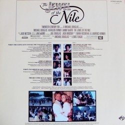 The Jewel of the Nile Soundtrack (Various Artists, Jack Nitzsche) - CD Back cover
