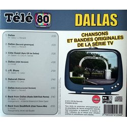 Dallas Soundtrack (Various Artists) - CD Back cover