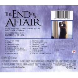 The End of the Affair Soundtrack (Michael Nyman) - CD Back cover
