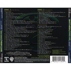 Batman Forever Soundtrack (Elliot Goldenthal) - CD Trasero