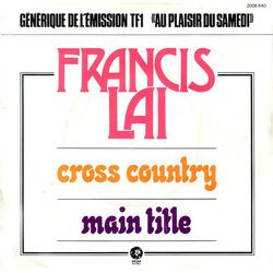 Cross Country / Main Title Soundtrack (Francis Lai) - CD cover