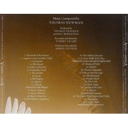 Angels in America Soundtrack (Thomas Newman) - CD Back cover