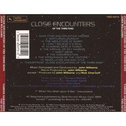 Close Encounters of the Third Kind Soundtrack (John Williams) - CD Back cover