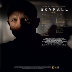Skyfall Soundtrack (Thomas Newman) - CD Back cover