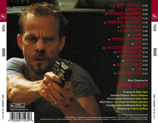 Brake Soundtrack (Brian Tyler) - CD Trasero
