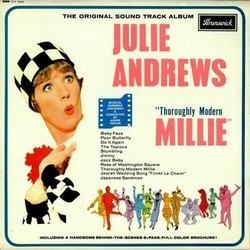Thoroughly Modern Millie Soundtrack (Various Artists, Elmer Bernstein, Andr� Previn, Jimmy Van Heusen) - CD cover