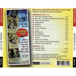 Imitation of Life / Interlude Soundtrack (Frank Skinner) - CD Trasero