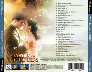 A Walk in the Clouds Soundtrack (Maurice Jarre) - CD Trasero