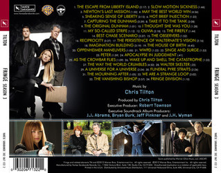 Fringe: Season 3 Soundtrack (Chris Tilton) - CD Back cover