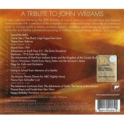 A TributeTo John Williams: An 80th Birthday Tribute Soundtrack (John Williams) - CD Back cover