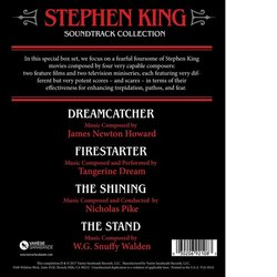 The Stephen King Soundtrack Collection Bande Originale (James Newton Howard, Nicholas Pike, W.G. Snuffy Walden	,  Tangerine Dream) - CD Arrière