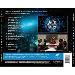 Cosmos: A Spacetime Odyssey Volume 3 Soundtrack (Alan Silvestri) - CD Back cover