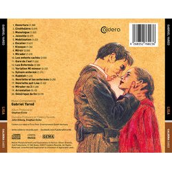 Lisa Soundtrack (Gabriel Yared) - CD Back cover