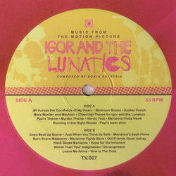 Igor And the Lunatics Μουσική υπόκρουση (Sonia Rutstein) - cd-inlay