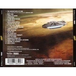 Solo: A Star Wars Story Soundtrack (John Powell) - CD Back cover