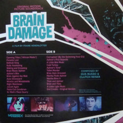 Brain Damage Bande Originale (Clutch Reiser, Gus Russo, The Swimming Pool Q's) - CD Arrière