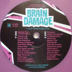 Brain Damage Bande Originale (Clutch Reiser, Gus Russo, The Swimming Pool Q's) - cd-inlay