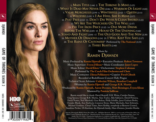 Game Of Thrones: Season 2 Bande Originale (Ramin Djawadi) - CD Arrière