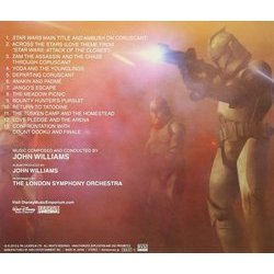Star Wars II: Attack Of The Clones Soundtrack (John Williams) - CD Back cover