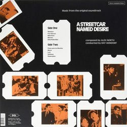 A Streetcar Named Desire Soundtrack (Alex North) - CD Back cover