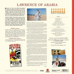 Lawrence Of Arabia Soundtrack (Maurice Jarre) - CD Back cover