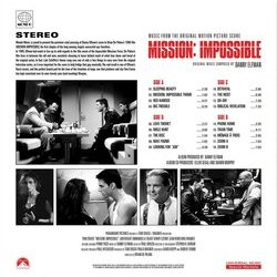 Mission: Impossible Soundtrack (Danny Elfman) - CD Achterzijde