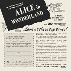 Alice in Wonderland Soundtrack (Various Artists, Oliver Wallace) - CD cover