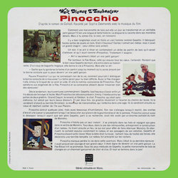 Pinocchio Soundtrack (Sophie Desmarets, Leigh Harline, Paul J. Smith) - CD Back cover