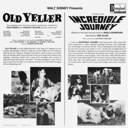 Old Yeller 声带 (Jerome Courtland, Fess Parker, Will Schaefer, Oliver Wallace) - CD后盖