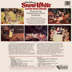 Snow White and the Seven Dwarfs 声带 (Adriana , Frank Churchill, Walt Disney Studio Chorus, The Dwarf Chorus, Leigh Harline, Paul J. Smith, Harry Stockwell) - CD后盖