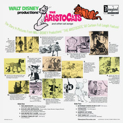The AristoCats Trilha sonora (Various Artists, George Bruns) - CD capa traseira