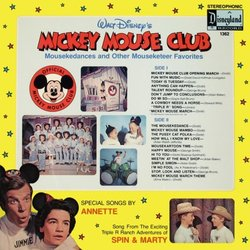 Mickey Mouse Club Soundtrack (Various Artists, Jimmie Dodd, Annette Funicello, The Mouseketeers Chorus) - CD Achterzijde