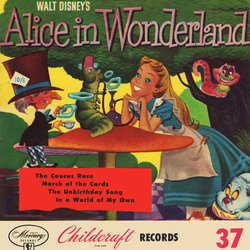 Alice in Wonderland Soundtrack (Various Artists, Richard Hayes, Roberta Quinlan, Oliver Wallace) - CD cover