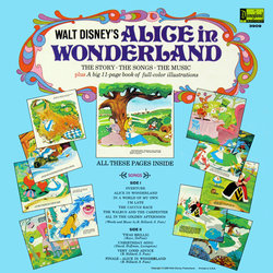 Alice In Wonderland Soundtrack (Various Artists, Darlene Gillespie, Oliver Wallace) - CD Back cover