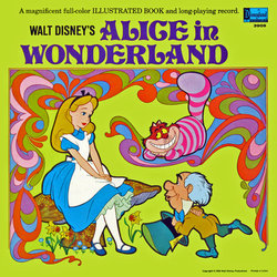 Alice In Wonderland Soundtrack (Various Artists, Darlene Gillespie, Oliver Wallace) - CD cover