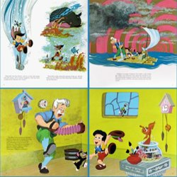 Pinocchio Colonna sonora (Various Artists, Cliff Edwards, Leigh Harline, Paul J. Smith) - cd-inlay