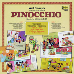 Pinocchio Colonna sonora (Various Artists, Cliff Edwards, Leigh Harline, Paul J. Smith) - Copertina posteriore CD