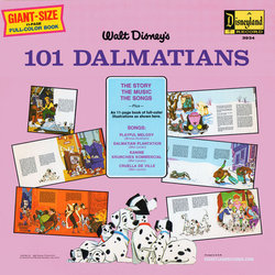 101 Dalmatians Soundtrack (Various Artists, George Bruns, Mel Leven) - CD-Rückdeckel