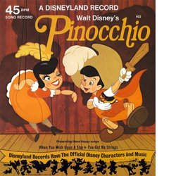 Pinocchio: When You Wish Upon A Star / I've Got No Strings Soundtrack (Various Artists, Cliff Edwards, Leigh Harline, Dickie Jones, Paul J. Smith) - CD cover