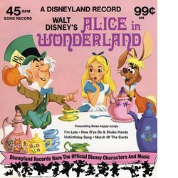 Alice in Wonderland Soundtrack (Oliver Wallace) - CD cover