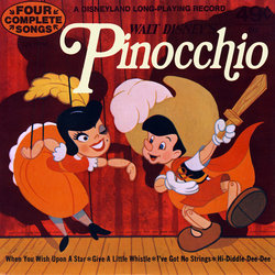 Pinocchio Soundtrack (Walter Catlett, Cliff Edwards, Leigh Harline, Dickie Jones, Paul J. Smith) - CD cover