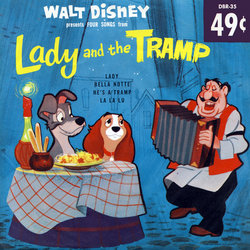 Lady and the Tramp Soundtrack (Various Artists, Bob Grabeau, Oliver Wallace, Teri York) - CD cover