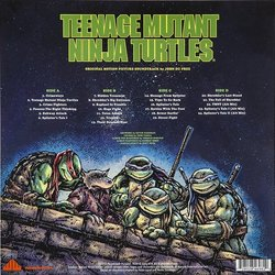 Teenage Mutant Ninja Turtles Colonna sonora (John Du Prez) - Copertina posteriore CD