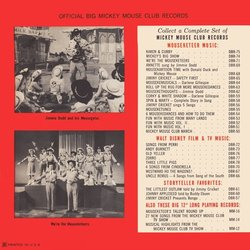 We're The Mouseketeers Soundtrack (Various Artists, Jimmie Dodd, The Mouseketeers) - CD Back cover