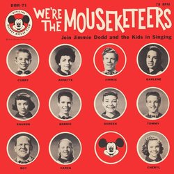 We're The Mouseketeers Soundtrack (Various Artists, Jimmie Dodd, The Mouseketeers) - CD cover