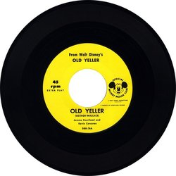 Old Yeller サウンドトラック (Kevin Corcoran, Jerome Courtland, Will Schaefer, Oliver Wallace) - CDインレイ