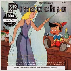 Pinocchio サウンドトラック (Cliff Edwards, Leigh Harline, The Ken Darby Singers, The Kings Men, Julietta Novis, Paul J. Smith, Victor Young) - CDカバー