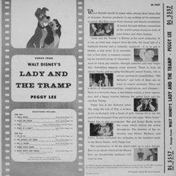 Lady and the Tramp Soundtrack (Various Artists, George Givot, Peggy Lee, The Pound Hounds, Oliver Wallace) - CD Trasero
