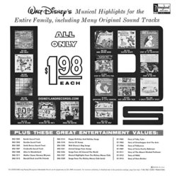 Musical Highlights From The Mickey Mouse Club Tv Show Soundtrack (Various Artists, Jimmie Dodd, Cliff Edwards, The Mouseketeers) - CD Achterzijde