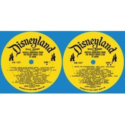 Musical Highlights From The Mickey Mouse Club Tv Show Soundtrack (Various Artists, Jimmie Dodd, Cliff Edwards, The Mouseketeers) - cd-inlay